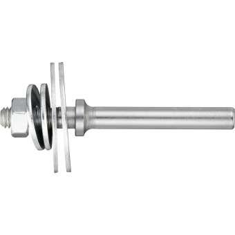 5x LUKAS Werkzeugaufnahme ASB für Filzpolierscheiben M6 Schaft 6 mm | GSL 63 mm