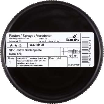 LUKAS Schleifpaste Polierpaste SP-1 Korn 120 | mittel