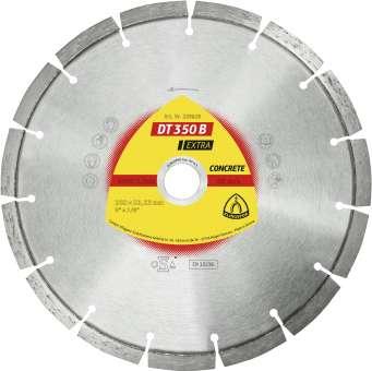 Klingspor DT 350 B Diamanttrennscheiben | 230 x 2,6 x 22,23 mm 15 Segmente 42 x 2,6 x 10 mm, Standardverzahnung | 339829