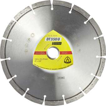 Klingspor DT 350 U Diamanttrennscheiben | 400 x 3,6 x 25,4 mm 28 Segmente 40 x 3,6 x 10 mm, Standardverzahnung | 347486
