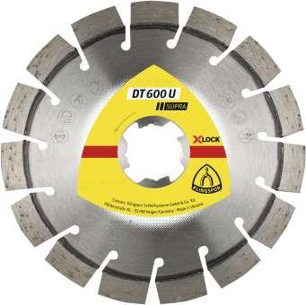 Klingspor DT 600 U Diamanttrennscheiben | X-LOCK, 115 x 2,4 x 22,23 mm 13 Segmente 20 x 2,4 x 9 mm, Kurzverzahnung | 350461