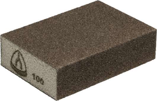 100 x Klingspor SK 500 Schleifklotz Korund, 100 x 70 x 25 mm Korn 100   125280
