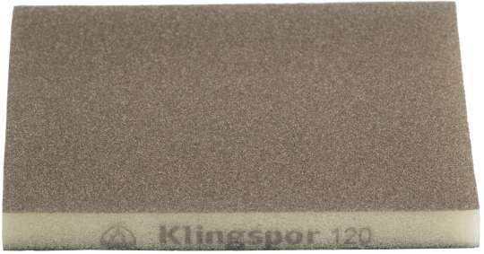 100 x Klingspor SW 501 TR Schleifschwämme Aluminiumoxid, 123 x 96 x 12,5 mm | Korn 100 | 351573