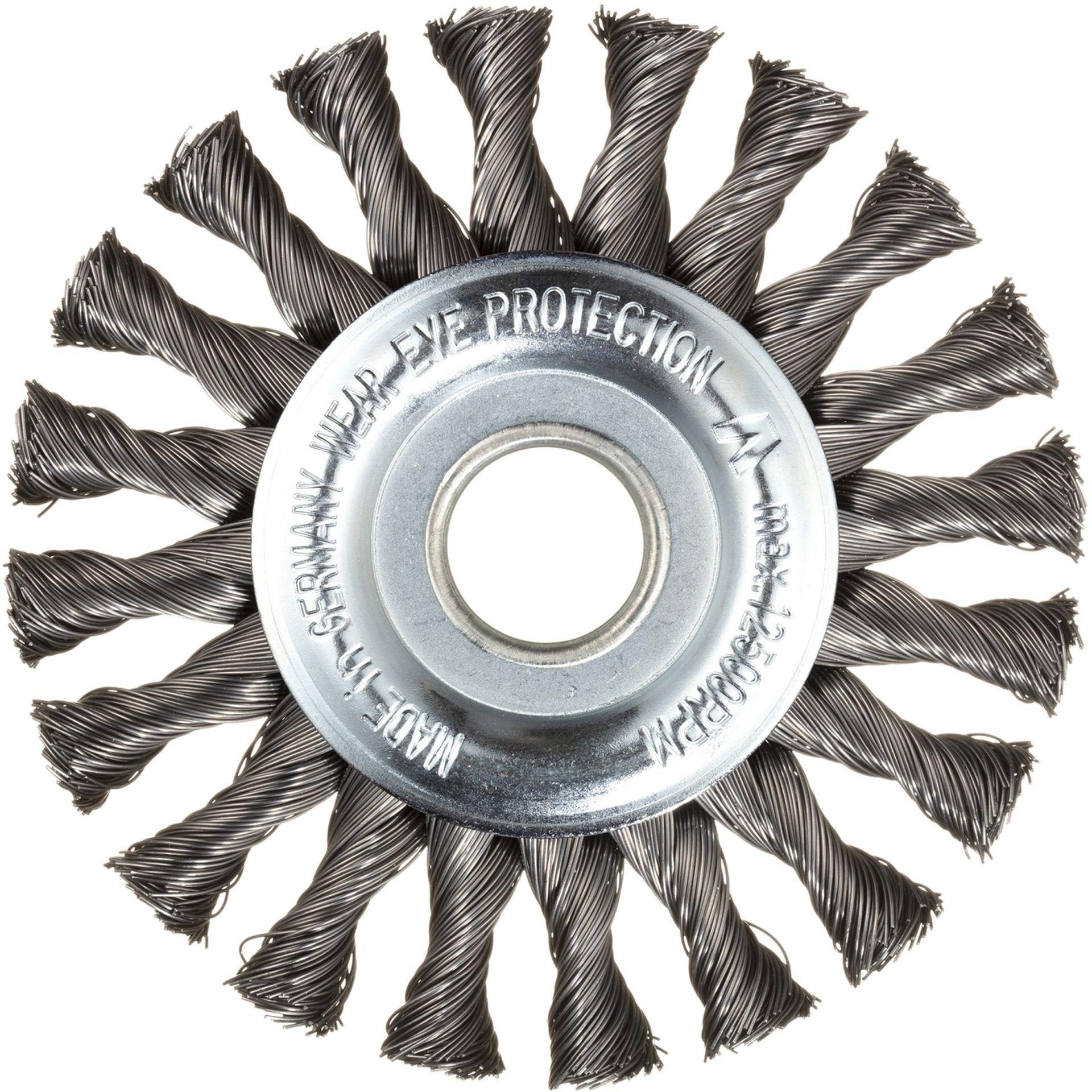 LUKAS Rund-Drahtbürste BRSZ universal 115x12 mm für Winkelschleifer gezopft
