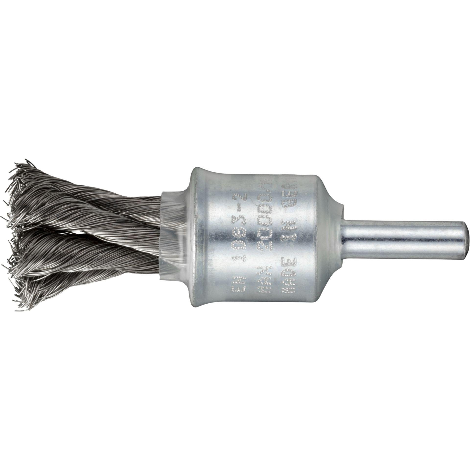 10x LUKAS Pinsel-Drahtbürste BPVZ Edelstahl 20x29 mm Geradschleifer gezopft
