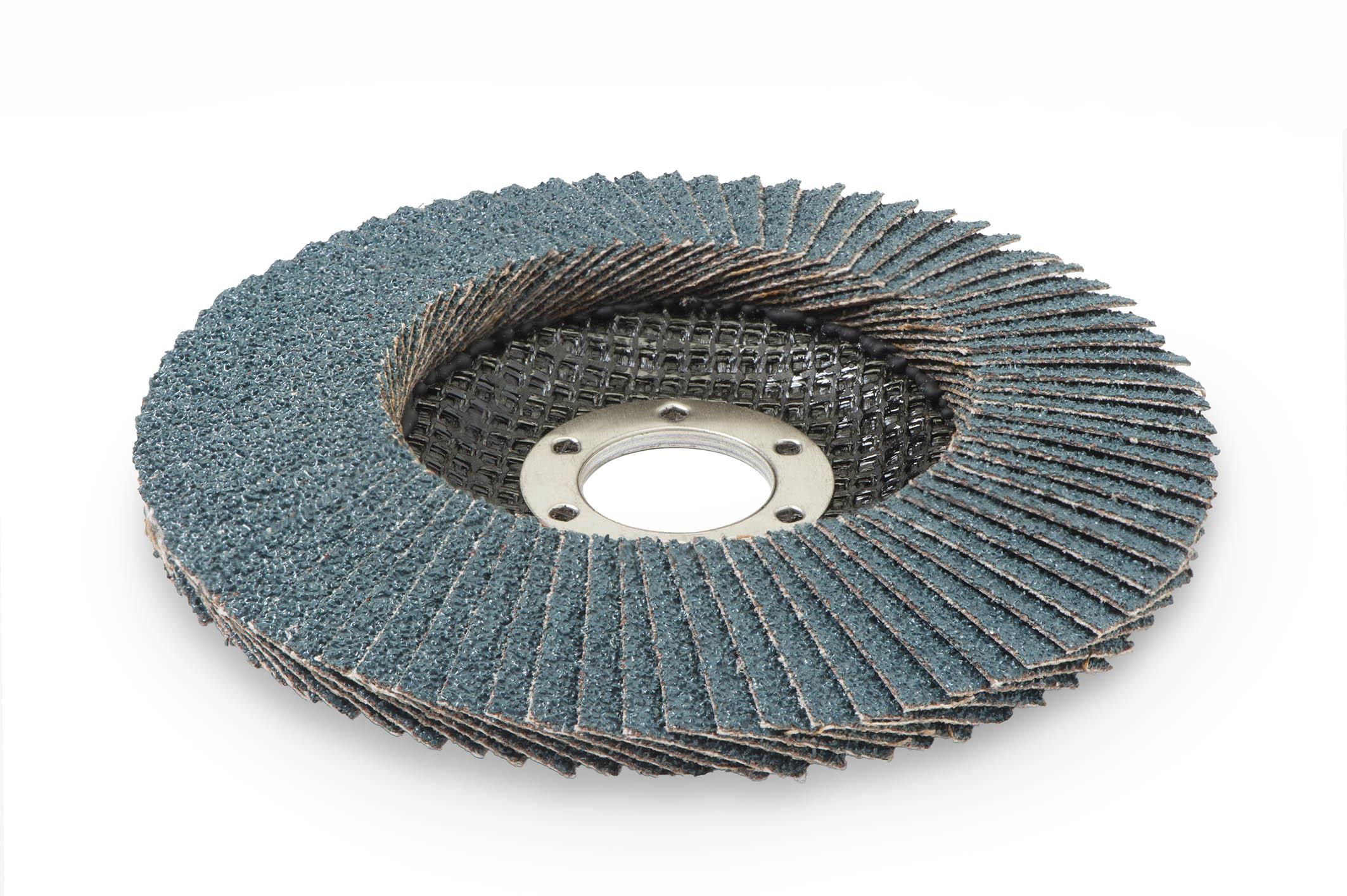 10 x STARCKE Fächerscheibe Schleifscheiben konisch Zirkon 115 mm Korn 40 | 190016