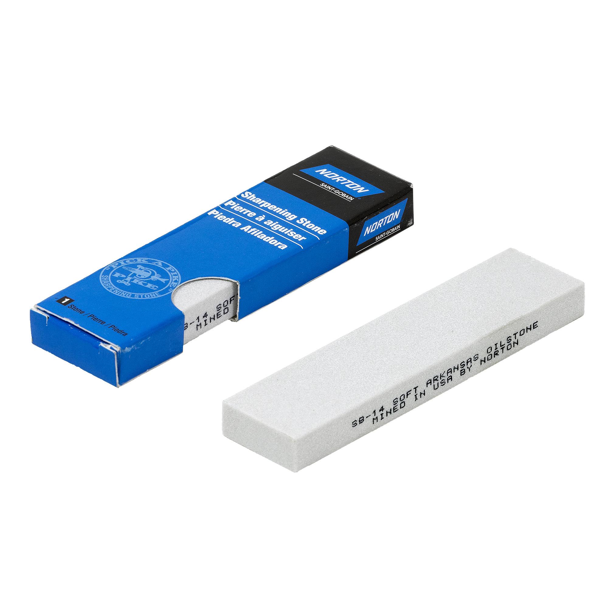 Norton ARKANSAS Soft Schleifstein Wetzstein 102x25x10 mm  | Industriequalität | 61463687565