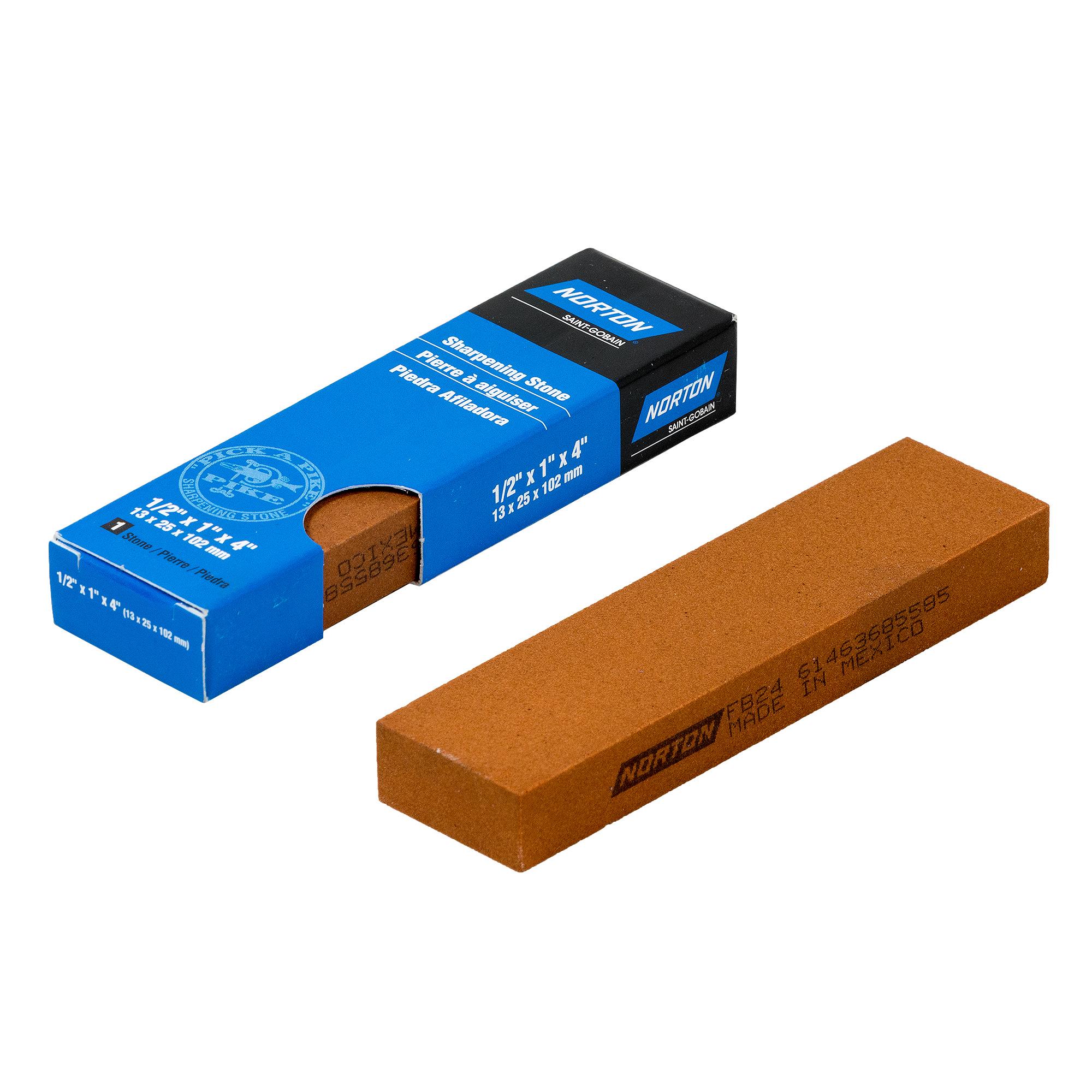 Norton INDIA Fine Schleifstein Wetzstein 102x25x13 mm | Industriequalität | 61463685585