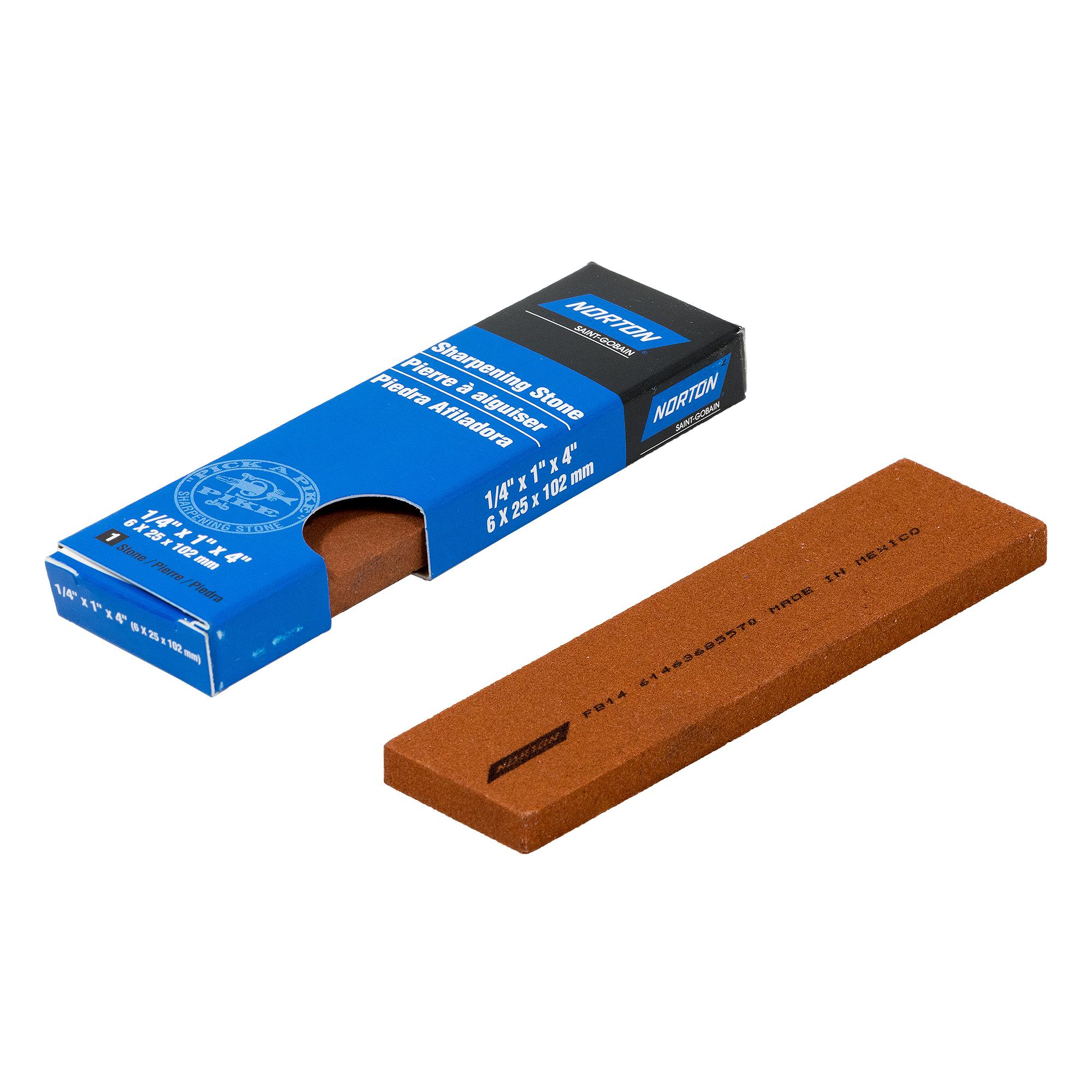 Norton INDIA Fine Schleifstein Wetzstein 102x25x6 mm | Industriequalität | 61463685570
