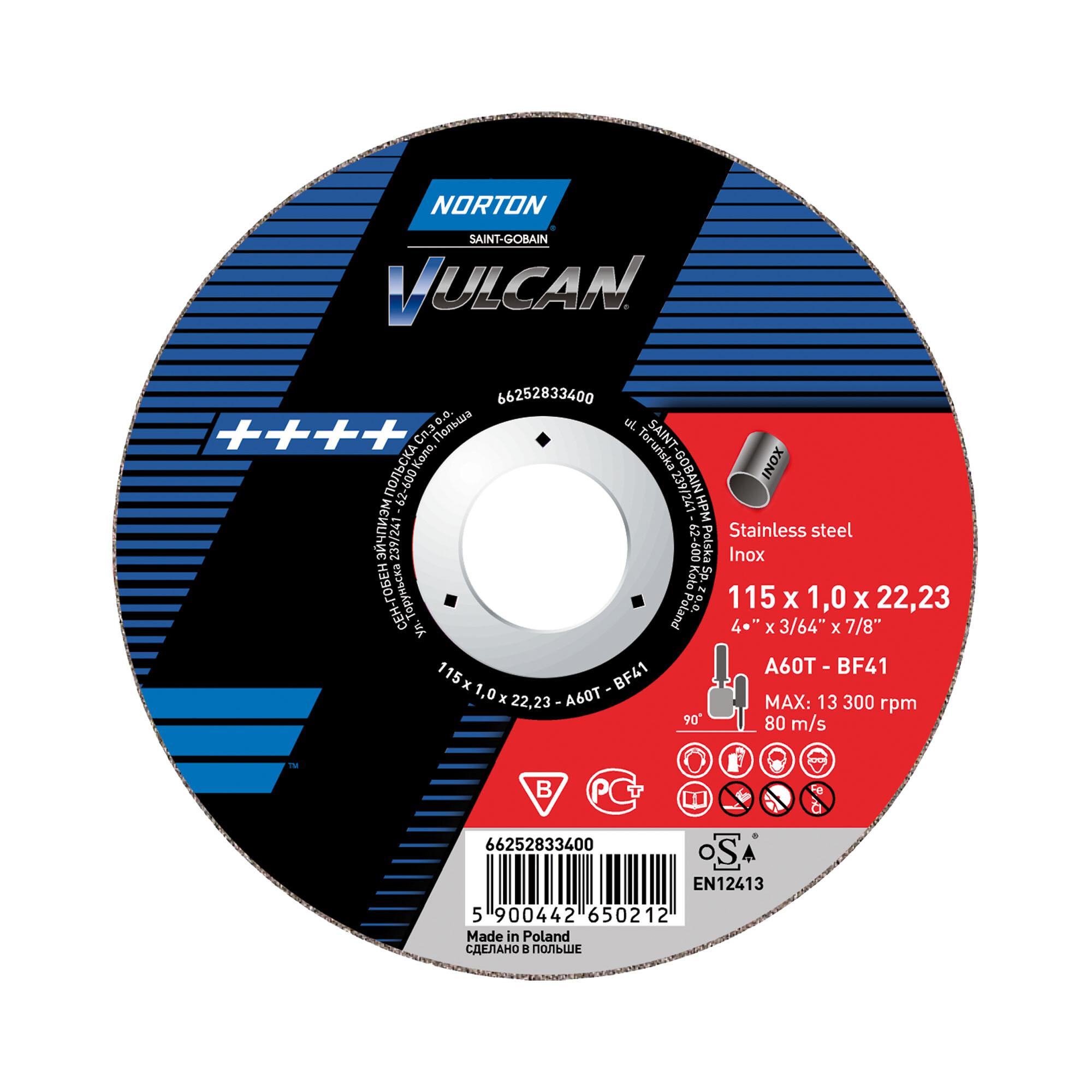 10 x NORTON Schruppscheibe gekröpft | 115x6,4x22,23 A 30 S Inox Vulcan Inox | 66252925513