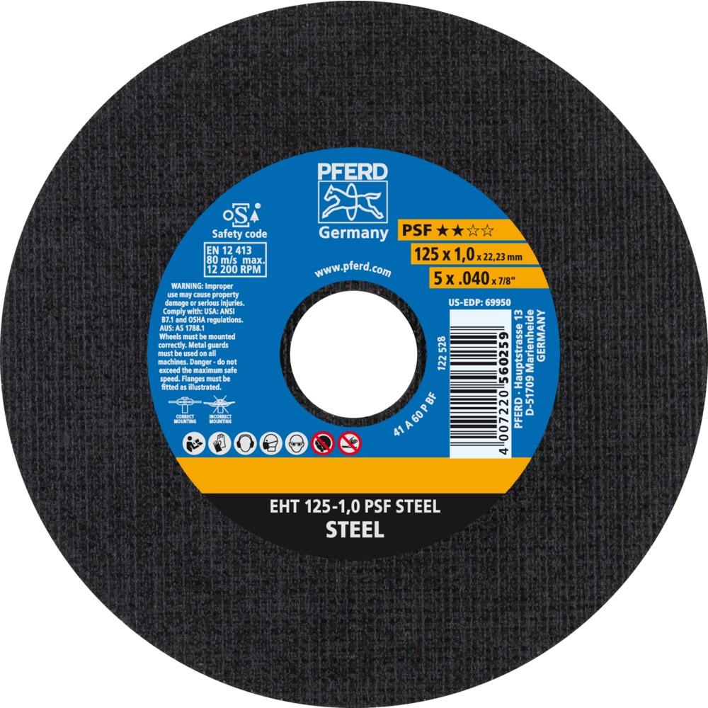 25 x PFERD Trennscheibe EHT 125-1,0 PSF STEEL | 61719010