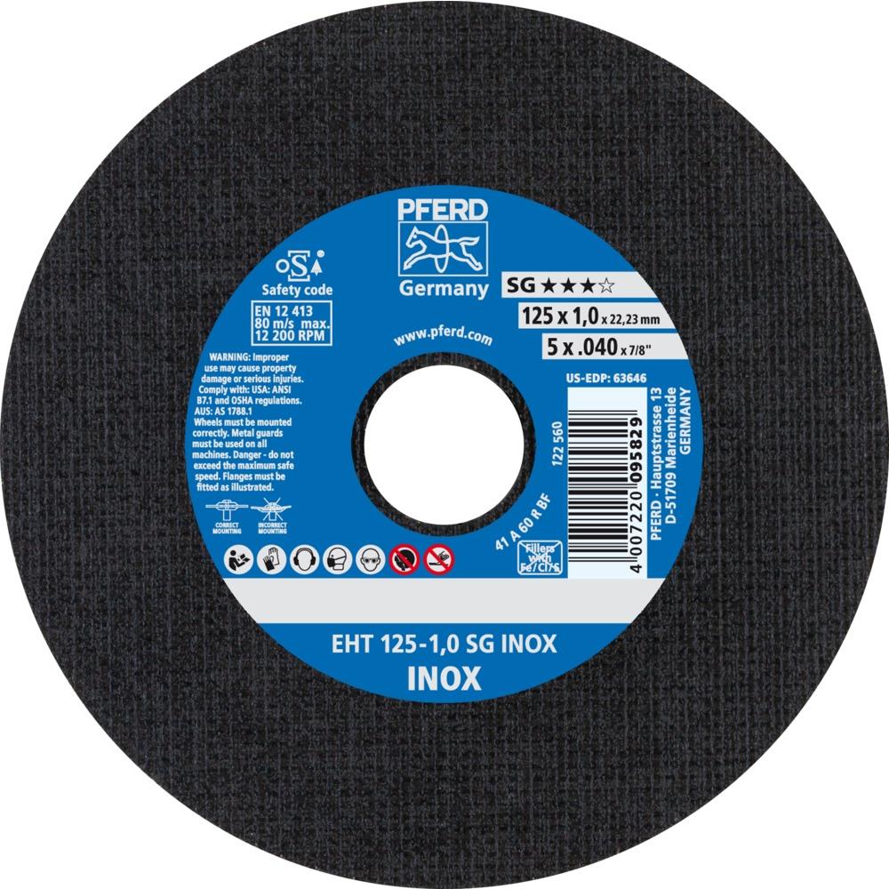 25 x PFERD Trennscheibe EHT 125-1,0 SG INOX | 61341116