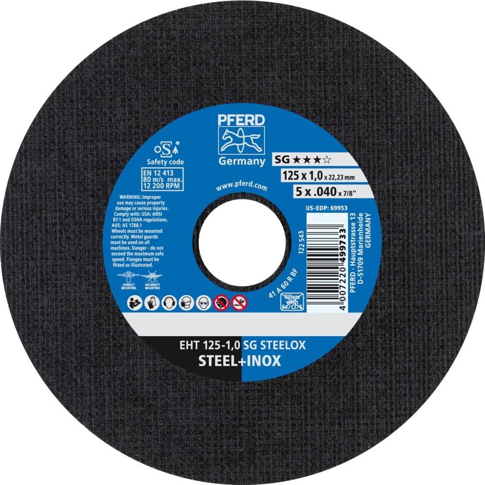 25 x PFERD Trennscheibe EHT 125-1,0 SG STEELOX | 61341112