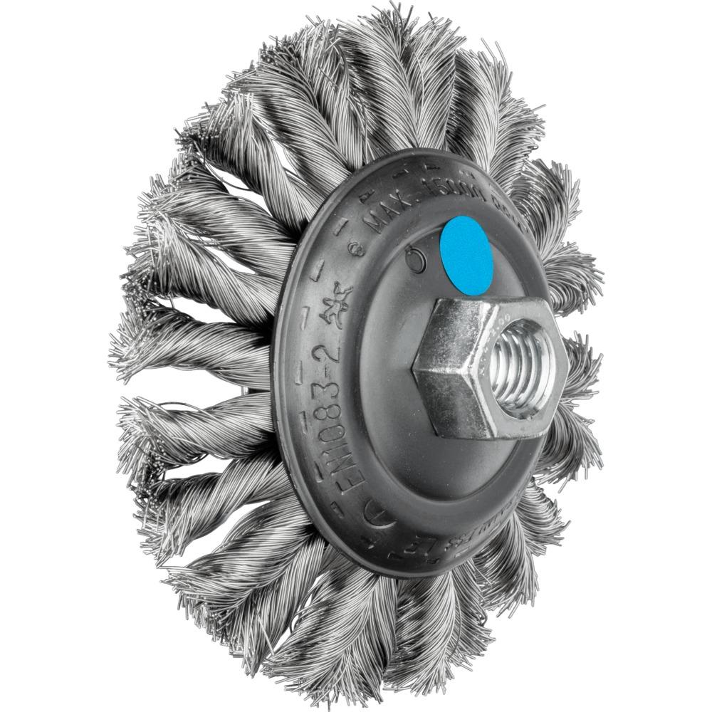 5 x PFERD Kegelbürste mit Gewinde, gezopft KBG 11515/M14 CT INOX 0,35 | 43314022