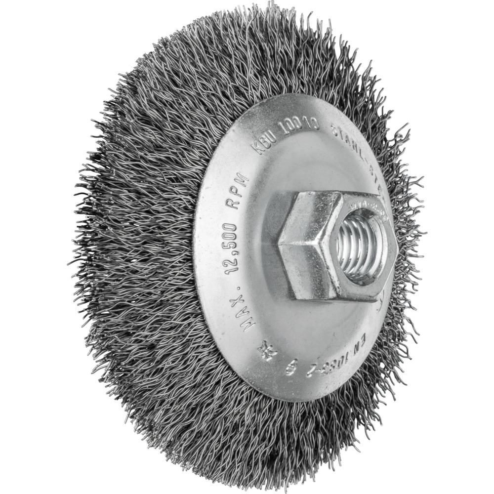 5 x PFERD Kegelbürste mit Gewinde, ungezopft KBU 10010/M14 ST 0,35 | 43316010