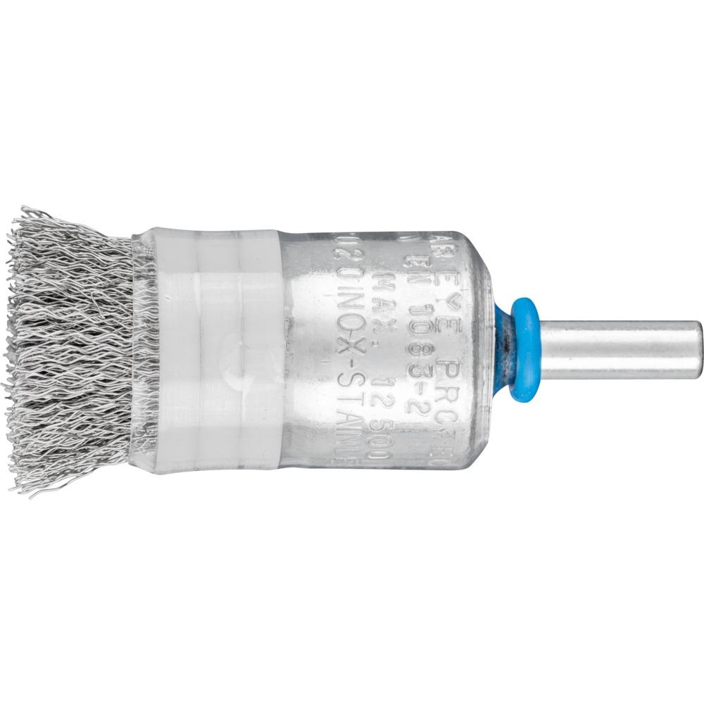 10 x PFERD Pinselbürste mit Schaft und Ring, ungezopft PBUR 2022/6 INOX 0,20 | 43213004