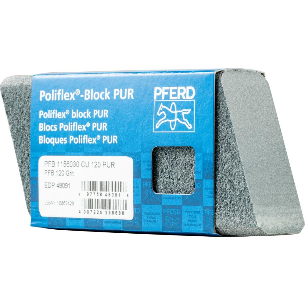 5 x PFERD Poliflex-Block PFB 1156030 CU 120 PUR